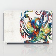 Colorful Octopus Art by Sharon Cummings iPad Case