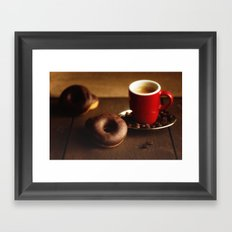Fresh Donuts For Coffee Framed Art Print