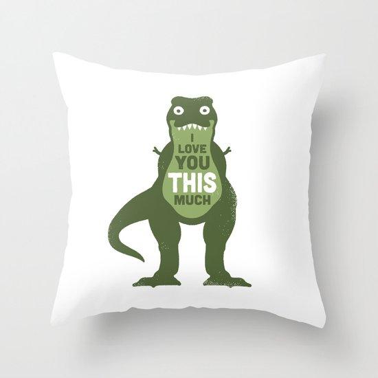 Amourosaurus Throw Pillow