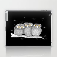 Laptop & iPad Skin featuring Zentangle Owl Friends At… by Vermont Greetings