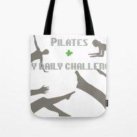 Pilates Silhouettes II Tote Bag