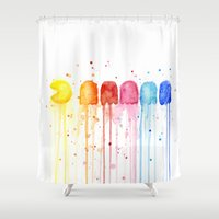 Retro Rainbow Shower Curtain
