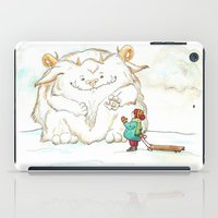 A Friendly Snow Monster iPad Case
