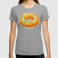 ad infinitum Womens Fitted Tee Tri-Grey SMALL