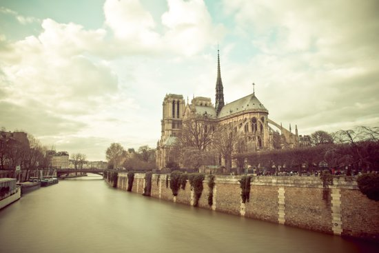 Notre Dame Cathedral on the Seine Art Print