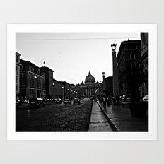 Italian Street B&W Art Print