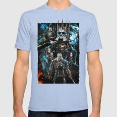 The Witcher Wild Hunt Mens Fitted Tee Tri-Blue SMALL