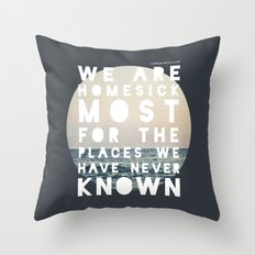 Homesick Throw Pillow