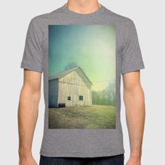 Country Morning Mens Fitted Tee Tri-Grey SMALL