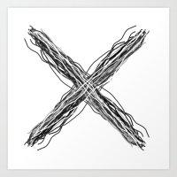 X Marks The Spot Art Print
