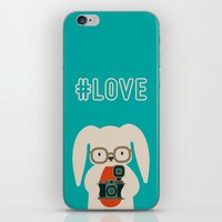 Hipster #LOVE iPhone & iPod Skin