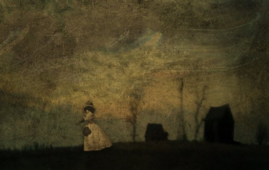 a tragic story of a witch in old New England, the kind of story with moss and roots and insects. Art Print