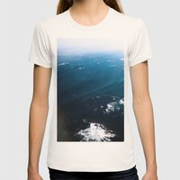 In Waves Womens Fitted Tee Natural SMALL
