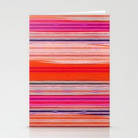 stripes Stationery Cards featuring stripes by spinL