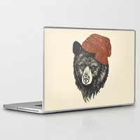 christmas Laptop & iPad Skins featuring zissou the bear by Laura Graves