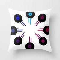Analog Zine [ Kolor of Sound ] Throw Pillow