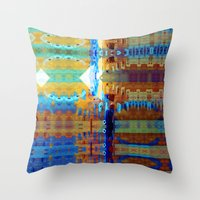 But Thoughts Folded Out. Throw Pillow