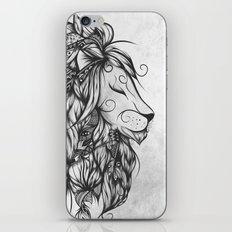 Poetic Lion B&W iPhone & iPod Skin
