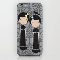 iPhone & iPod Case featuring Meredith and Delany: Vampire Twins by virginia odien