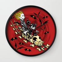 Calvydia And Beetlehobbe… Wall Clock