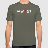 Evil Dead Army of Darkness Bruce Campbell: What Would Ash Do? Mens Fitted Tee Lieutenant SMALL