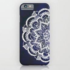 White Feather Mandala on Navy iPhone 6 Slim Case
