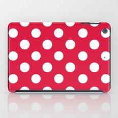 Polka Dots (White/Crimson) iPad Case