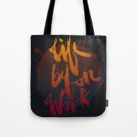 Life Before Work Tote Bag