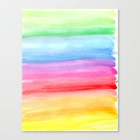 Watercolour Rainbow Canvas Print
