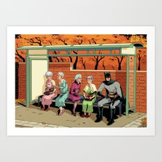 Nanna nanna bat man Art Print