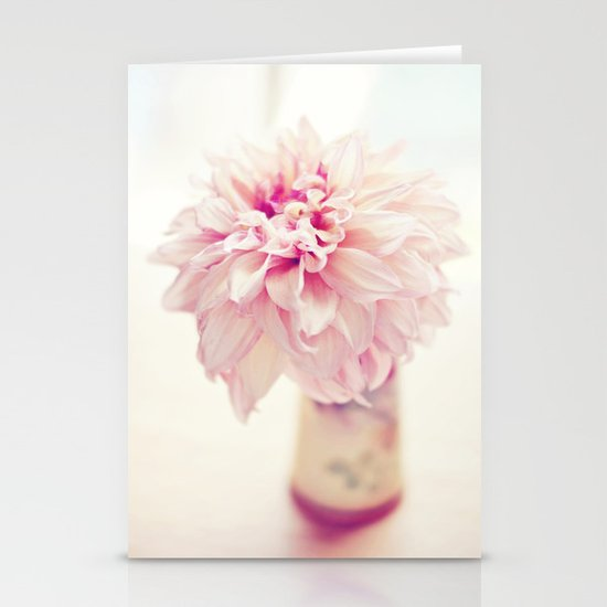 Dahlia Stationery Card
