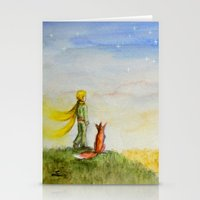 Little Prince, Fox And W… Stationery Cards