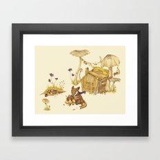 Harvey the Greedy Chipmunk Framed Art Print