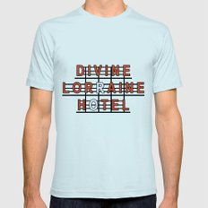 Divine Lorraine Hotel Light Blue SMALL Mens Fitted Tee