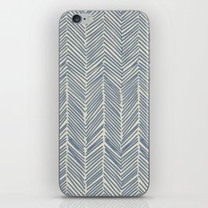 Freeform Arrows in navy iPhone & iPod Skin