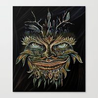 Forest Elemental Color Canvas Print