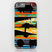 iPhone Cases featuring Rad Conscious (Black Background) by Fn Obscure