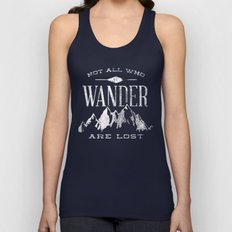 Not All Who Wander Are L… Unisex Tank Top
