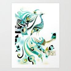 Lone Peacock Art Print