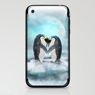 iPhone & iPod Skin featuring Listen Hard (Penguin Dre… by Soaring Anchor Desig…