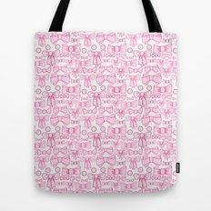 bows pink Tote Bag