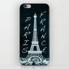La Tour Eiffel - The Eiffel tower inverse with text iPhone & iPod Skin