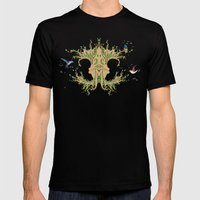 Magic tree Mens Fitted Tee Black SMALL