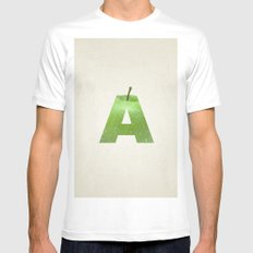 A.  SMALL Mens Fitted Tee White