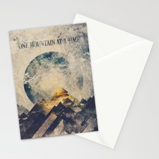 One mountain at a time Stationery Cards