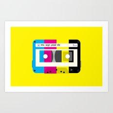 CMYK Mix tape called life Art Print