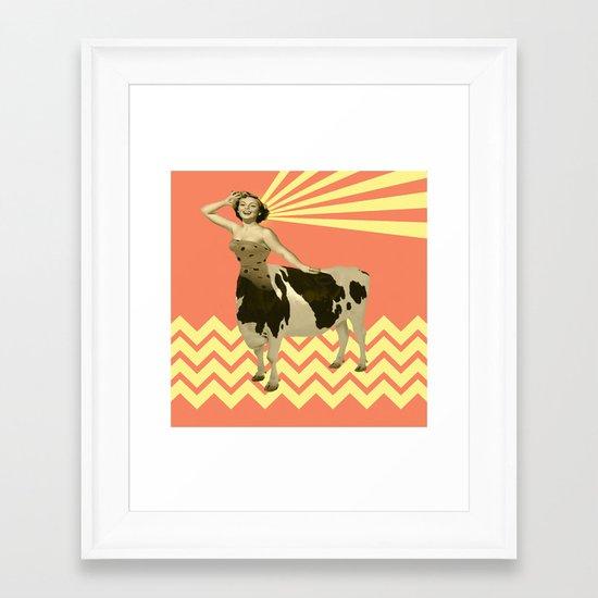 The real girly cow girl Framed Art Print