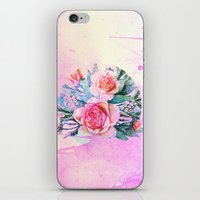 Bouquet And Watercolors iPhone & iPod Skin