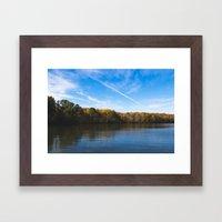 Fall Reflection Framed Art Print