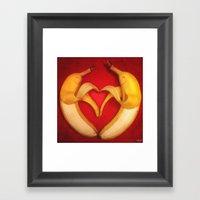 Banana Love Framed Art Print